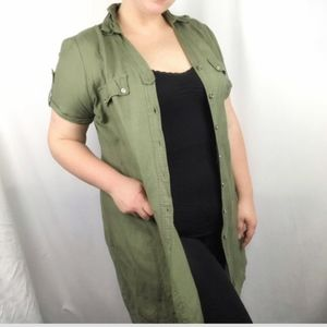 Army Green short sleeve duster